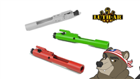 Luth-AR Complete AR-15 Bolt Carrier Group .223/5.56 - Shown here in Battleship Grey, Toxic Green, and Smith&Wesson Red
