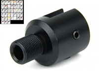 "RUGER 10/22 1/2""X28 THREAD ADAPTER/ALUMINUM/COLOR CHOICE"