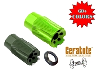 A&A All Steel Low Concussion 1/2x28 Compact Muzzle Brake Compensator .223/.22/5.56 - COLOR OPTIONS