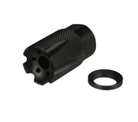 A&A All Steel Low Concussion 1/2x36 Compact Muzzle Brake Compensator 9mm