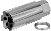 Linear Compensator 5/8X24 (.308)(.300BLK) FLASH & SOUND FORWARDER / STAINLESS STEEL (USA MADE)