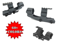 "30MM HEAVY DUTY-COLOR CHOICE- QUICK RELEASE SCOPE MOUNT W/1"" INSERTS/LONG"