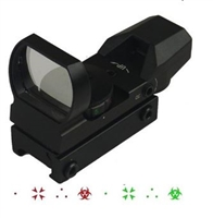 FSI Red/Green Ver2 Black 4 Reticle Adj Bio Hazard, 3 Dots, Dot