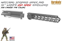 Stripped Upper Receiver with Guntec 10 inch Handguard-COLOR CHOICE