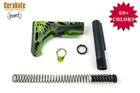 Tactical Skeletonized Stock Kit AR 15-COLOR OPTIONS- Shown Here in Battleworn Zombie Green