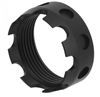 TacFire Enhanced Aluminum Castle Nut - Black