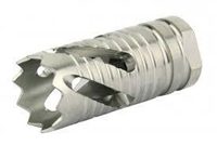 ".223/5.56 1/2""x28 Thread Crown Style Muzzle Brake, Stainless Steel (USA Made)"