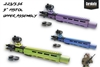 "NEW!  A&A ""THE TRUTH"" .223/5.56 Pistol Upper Assembly - Shown here in Bright Purple, NRA Blue, and Zombie Green"