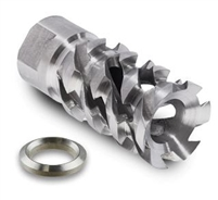 WALKING DEAD MUZZLE BRAKE - STAINLESS STEEL 1/2-28RH