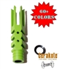 "1/2""X28 THREAD SPIKE STYLE MUZZLE BRAKE-COLOR OPTIONS"