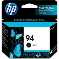 Genuine HP 94 Black Ink Cartridge With Vivera Ink C8765WN