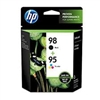 Genuine HP 95/98, Black/Tricolor Ink Cartridges CB327FN Pack Of 2