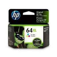 Original HP 64XL Tricolor High Yield Ink Cartridge N9J91AN Bstock
