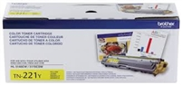 Original Brother TN-221Y Yellow Toner Cartridge Bstock