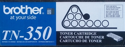 Genuine Brother TN-350, Black Toner Cartridge Bstock