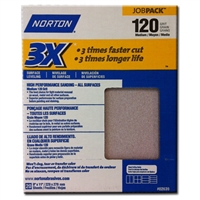 "Norton Sandpaper 120 Grit 9""X11"" [20 SHEETS]  02639"