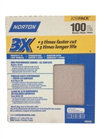 "Norton Sandpaper 100 Grit 9""X11"" [20 SHEETS]  02640"