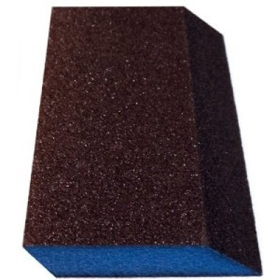 "WEBB ABRASIVES 3"" x 5"" x 1"" Dual Angle Fine/Medium Sponge  BOX OF 24 EA(05121)"