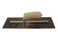 "CURRY Golden stainless steel Trowel 14"" x 5"", wood camelback handle 103C"