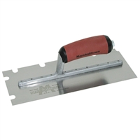 MARSHALLTOWN EIFS Stainless Steel Notch Trowel-1/2 X 1/2 X 2 'U' w/Curved DuraSoft® Handle