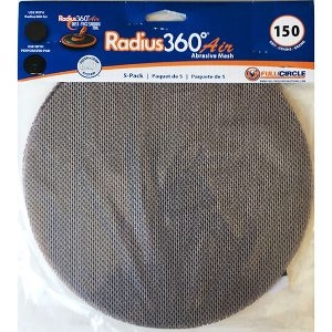 Full Circle 150 Grit Mesh Abrasive for Radius 360 Air – 5 pack