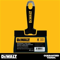 "DEWALT 6"" Blue Steel Taping Knife - Soft Grip Handle - Chrome End  2-122"