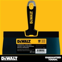 "DEWALT 10"" Blue Steel Taping Knife - Soft Grip Handle - Chrome End  2-126"