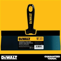 "DEWALT 12"" Blue Steel Taping Knife - Soft Grip Handle - Chrome End  2-127"