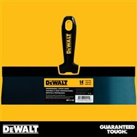 "DEWALT 14"" Blue Steel Taping Knife - Soft Grip Handle - Chrome End  2-128"