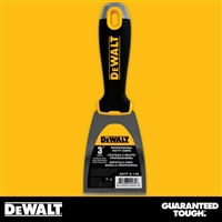 "DEWALT 3"" Stainless Steel Putty Knife - Soft Grip Handle - Chrome End 2-139"