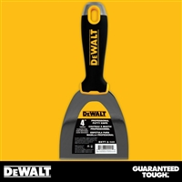 "DEWALT 4"" Stainless Steel Putty Knife - Soft Grip Handle - Chrome End"