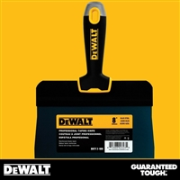 "DEWALT 8"" Blue Steel Big Back Taping Knife- Soft Grip Handle - Chrome End  2-180"