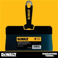 "DEWALT 10"" Blue Steel Big Back Taping Knife - Soft Grip Handle - Chrome End  2-182"