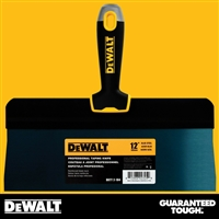 "DEWALT 12"" Blue Steel Big Back Taping Knife - Soft Grip Handle - Chrome End  2-184"