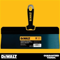 "DEWALT 14"" Blue Steel Big Back Taping Knife - Soft Grip Handle - Chrome End  2-186"