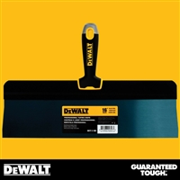 "DEWALT 16"" Blue Steel Big Back Taping Knife - Soft Grip Handle - Chrome End  2-188"