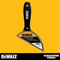 DEWALT Stainless Steel Drywall Clipped Knife  - Black Plastic Handle - Chrome End