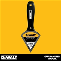 DEWALT Stainless Steel Drywall Pointing Knife - Black Plastic Handle - Chrome End