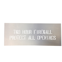 "2 HOUR FIRE WALL STENCIL, 2"" TWO HOUR FIRE WALL STENCIL"
