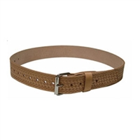 "HERITAGE 2"" Wide Leather Belt with Roller Buckle - Large"