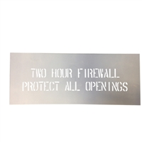 "4"" TWO HOUR FIRE WALL STENCIL"