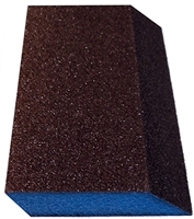 WEBB ABRASIVES DUEL ANGLE/DOUBLE SLANT medium Grit Sponges BOX OF 24 3X5X1 (400020)