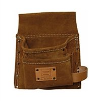 Heritage 5-Pocket Professional Suede Leather Nail and Tool Bag - Right Handed 423RSP