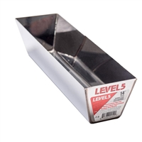 "LEVEL 5 TOOLS 14"" STAINLESS STEEL MUD PAN"