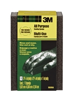 3M Small Area Sanding Sponge, 908NA, 3.75 in x 2.625 in x 1 in, Fine/Medium BOX OF 24 EA (50038)