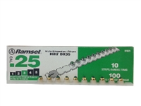 RAMSET 25 CAL GREEN STRIP LOADS..100 COUNT BOX