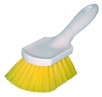 "Magnolia Short Handle Brush - Yellow Plastic- 8-1/2""  68CP"