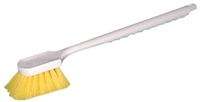 "Magnolia Brush 70-CP Utility Brush with Long Plastic Handle, Plastic Bristles, 2"" Trim, 20"" Length, Yellow"