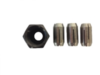 "Rotomite Collet Kit With Nut  1/4""  1/8""  5/32"""