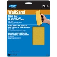NORTON FINE 150 GRIT SANDING SHEET FOR INSIDE CORNER SANDING TOOL PACK OF 3)